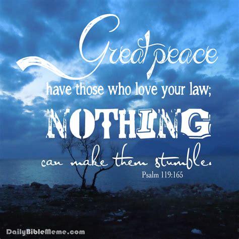 Daily Bible Meme - psalm 119 165 daily bible meme