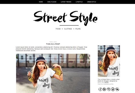 templates blogger urban blogger theme blogger template street style responsive blog