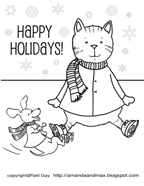 coloring pages holidays print happy holidays coloring pages az coloring pages