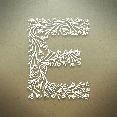 letter e typography beautiful botanical alphabet webdesigner depot