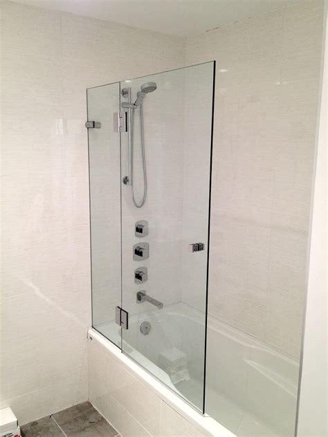 bathtub half glass panel showers extraordinary half glass shower door half wall