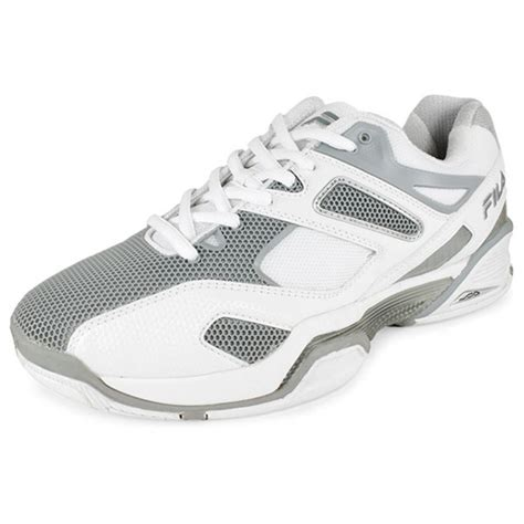fila tennis shoes fila s sentinel tennis shoes white and metallic silver
