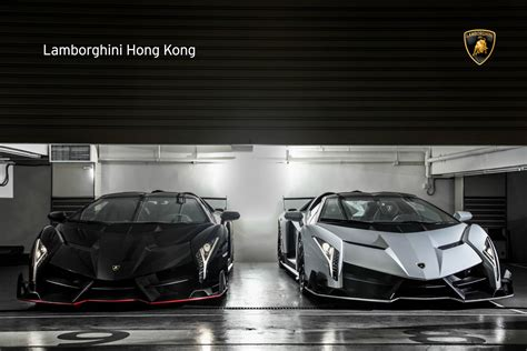 New Lamborghini Veneno Two New Lamborghini Veneno Roadsters Delivered In Hong