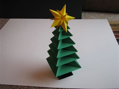 Folded Paper Decorations - origami tree tutorial 36 make bake sew