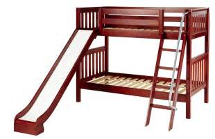 Bunk Bed With A Slide Maxtrix Medium Bunk Bed W Ang Ladder And Slide