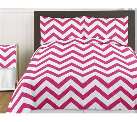 pink chevron bedding hot pink and white chevron 3pc childrens and teen zig zag