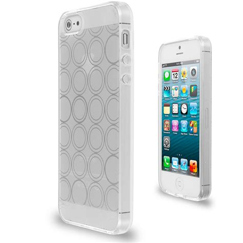 Casing Iphone 5g Grey color circles tpu rubber jelly skin cover for iphone 5 5g 5s ebay