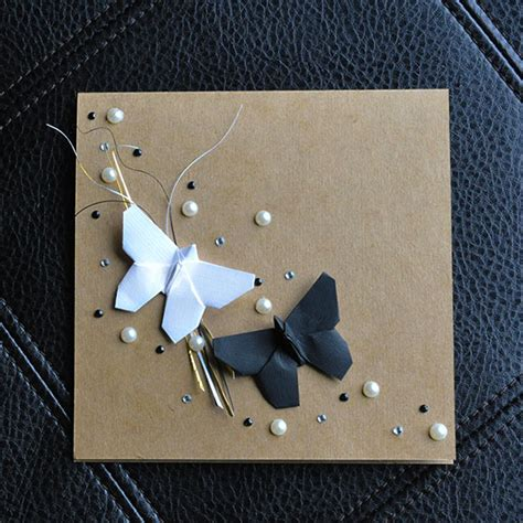 Origami Wedding Cards - origami wedding card by orijuju on deviantart