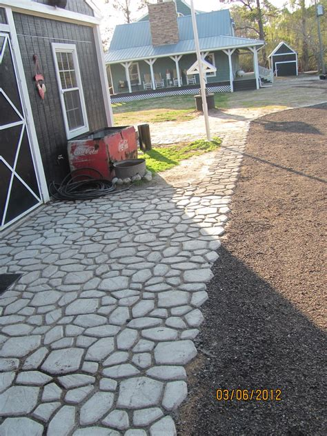 make your own patio pavers diy concrete walkway molds do it your self