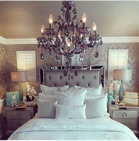 bedroom chandelier size celine 5 piece mirrored and upholstered tufted queen size