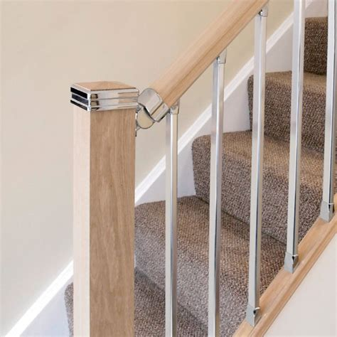 chrome banister rail solution brushed nickel handrail connector jackson