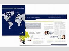 Global Communications Company Brochure Template Design Holiday Gift Guide Microsoft