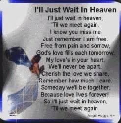 Missing my son in heaven ll just wait in heaven my son my angel in