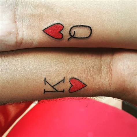 king and queen of hearts tattoo best 25 king ideas on