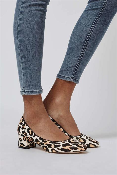 topshop juliette pony leather mid heel shoes lyst
