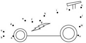 race car connect dots lowercase letters transportation