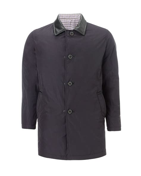 Reversible Quilted Jacket by Aquascutum Reversible Quilted Jacket In Gray For Navy