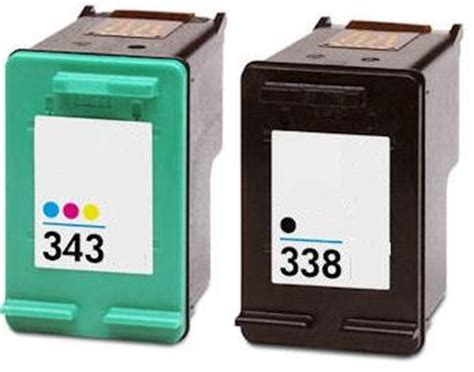 Tinta Hp 27 28 Combo Pack Original hp 338 343 combo pack inkjet cartridges sd449ee