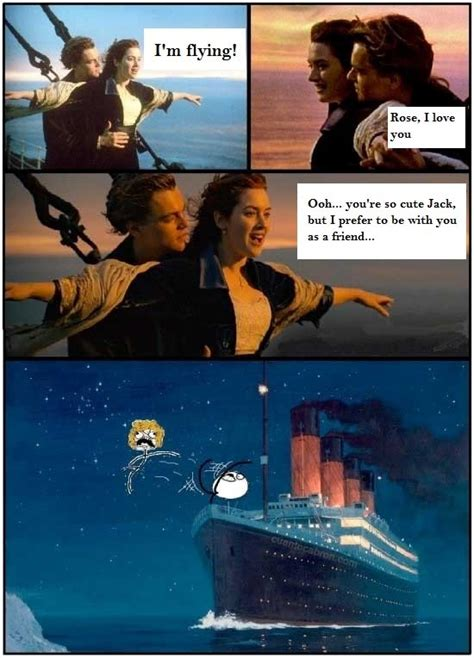 titanic film jokes i m flying rose i love you desk flip rage face