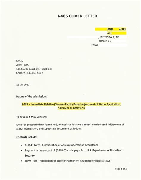 i 485 cover letter adjustment of status cover letter for k 1 order essay cheap