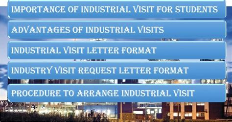 Request Letter To Companies For Industrial Visit industrial visit for college students kerala industrial