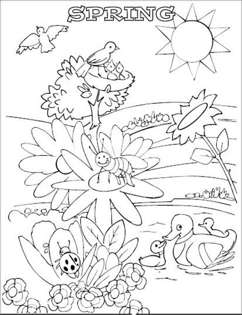 coloring pages spring animals animal happy spring day coloring pages coloring pages