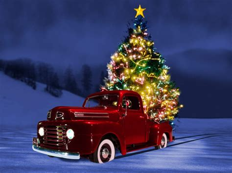 high definition christmas tree car wallpaper