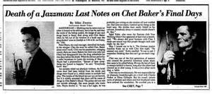 Jobs To Work From Home by Death Of A Jazzman Last Notes On Chet Baker S Final Days