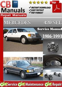 free online car repair manuals download 1986 mercedes benz s class instrument cluster mercedes 420sel 1986 1991 service repair manual service repair manuals ebooks