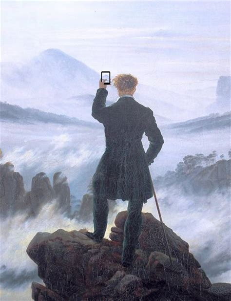 libro caspar david friedrich modern technology in paintings art parody painting lols art classic