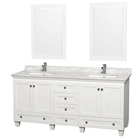Vanities White by Wyndham Collection Wcv800072dwhcmunsm24 Acclaim 72 Inch