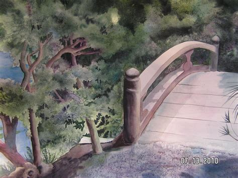 zen garden bridge by shirley hathaway