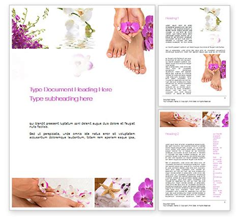 Nail Spa Word Template 10744 Poweredtemplate Com Nail Brochure Templates Free