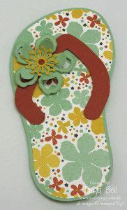 flip flop shaped card template 84 best images about flip flop summer cards on