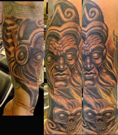 mayan warrior tattoo designs aztec skull warrior