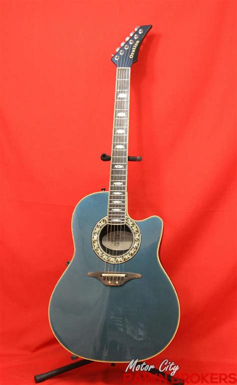 Handmade Acoustic Guitars Usa - ovation 1989 8 6 string right made in usa