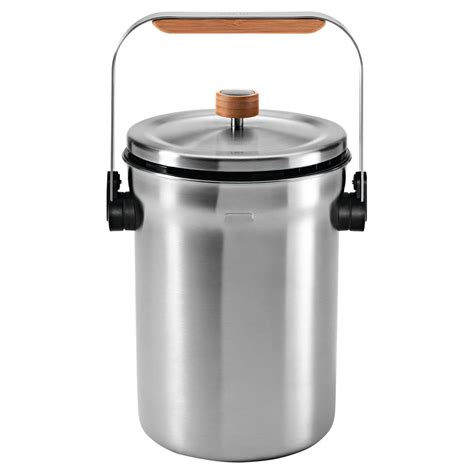 simplehuman stainless steel compost pail at hayneedle