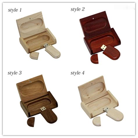 Wooden Usb Flashdisk wooden personality creative gift customized wood with box usb flash drive u disk usb2 0 flash