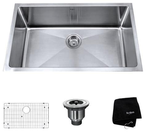 Modern Kitchen Sinks Stainless Steel Kraus 32 Inch Undermount Single Bowl 16 Stainless Steel Kitchen Sink Modern Kitchen
