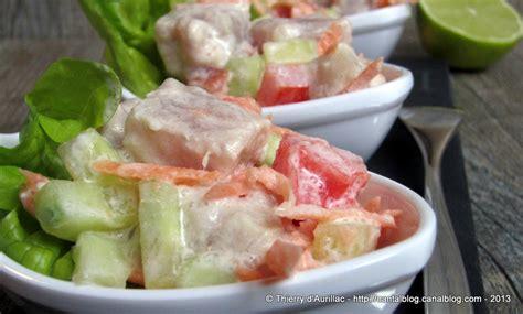 salade tahitienne ou poisson cru au lait de coco un