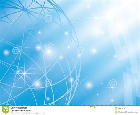 abstract vector background with blue globe royalty free