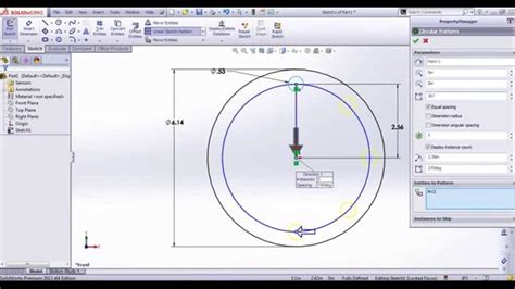 solidworks linear sketch pattern rounding how to do linear and circular sketch patterns in