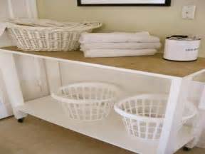 Laundry Room Table With Storage Photos Of The Laundry Room Table Jen Joes Design Laundry Folding Table Decor