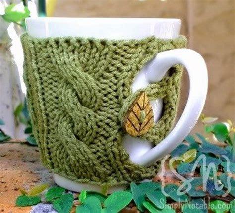 knitted mug cosy free pattern 15 diy crocheted mug cozies comfydwelling