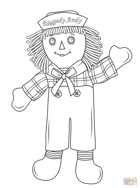raggedy andy coloring page free printable coloring pages