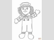 Raggedy Andy coloring page | Free Printable Coloring Pages Rag Doll Drawing