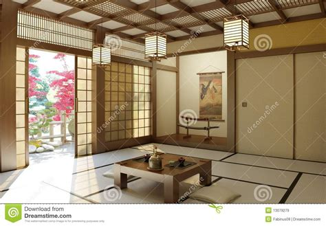 buddha style living room japanese zen room stock image image of inside buddhist 13079279