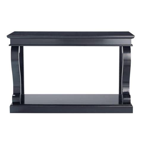 birch console table birch wood console table in black w 130cm octavia