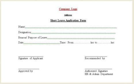 short leave application form freelance front end