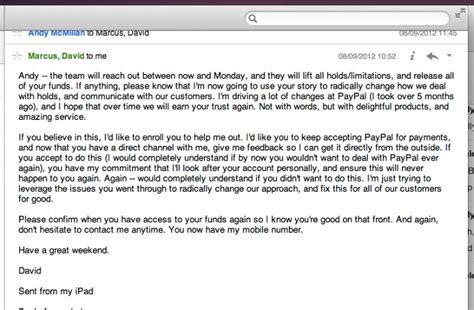 Customer Letter To Apple Lessons In Customer Support Paypal Apple And Getapp